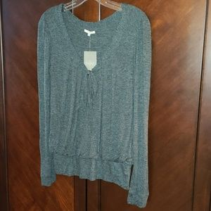 Bordeaux for Anthropologie long sleeve top